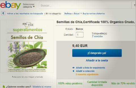 comprar chia online en España y peninsula