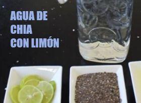 receta agua de limon con chia
