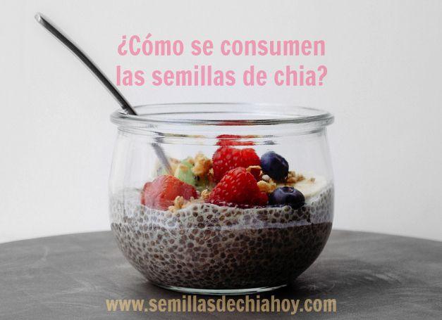 como se consume la chia, frutas